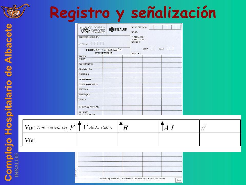 Registro y señalización