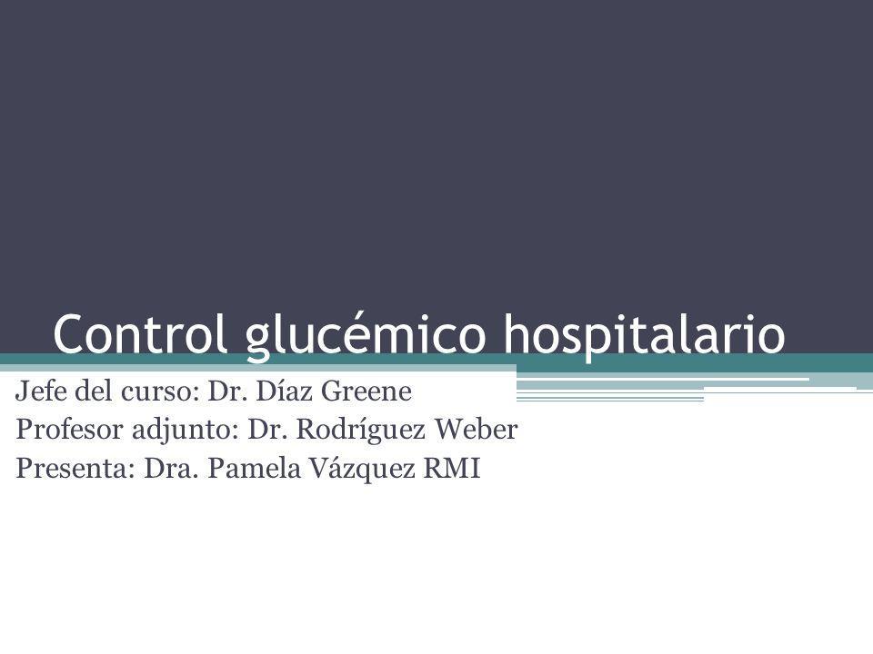 Control glucémico hospitalario