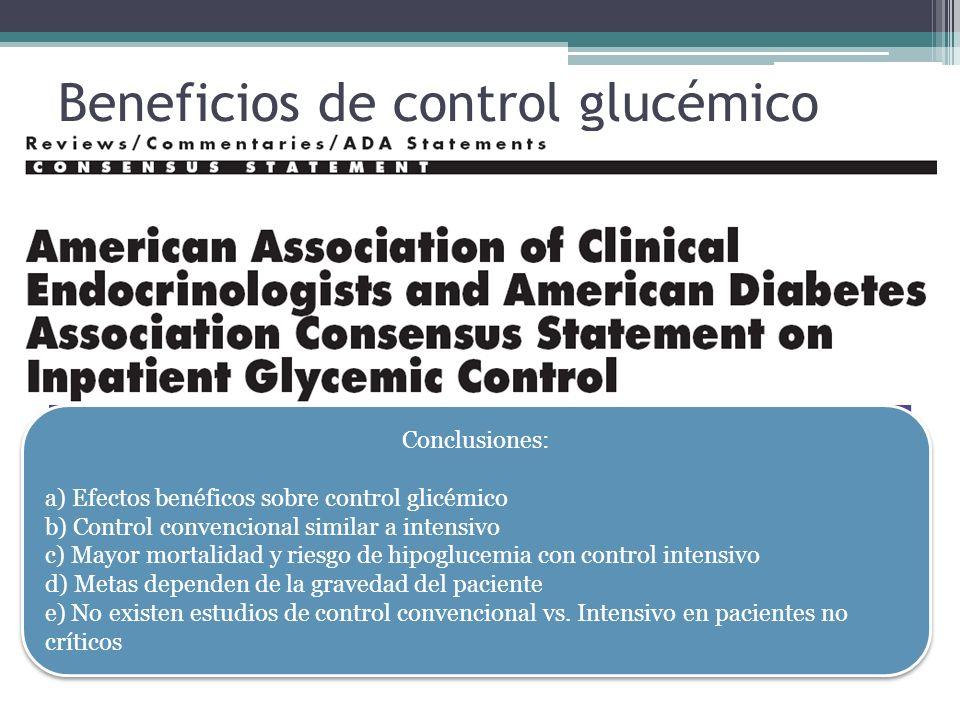 Beneficios de control glucémico