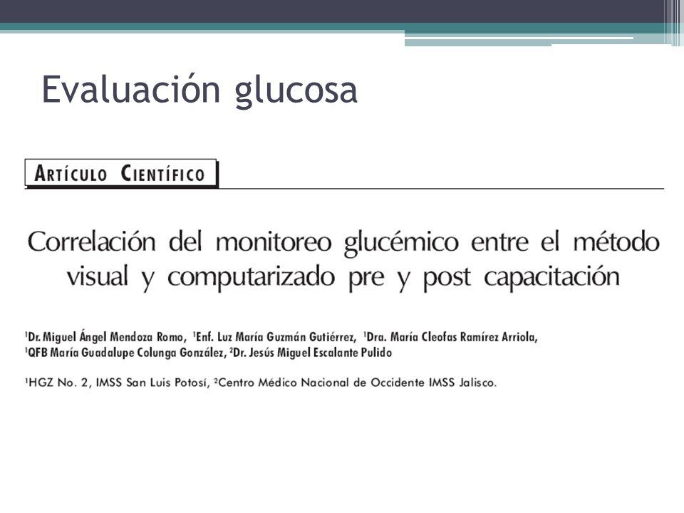 Evaluación glucosa 2003…