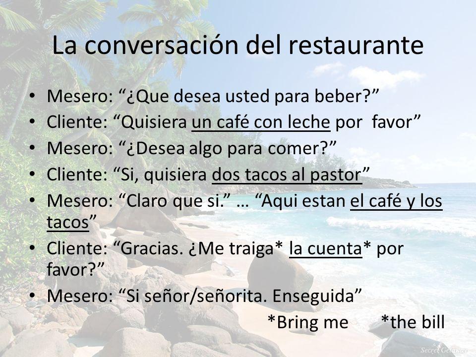 La conversación del restaurante