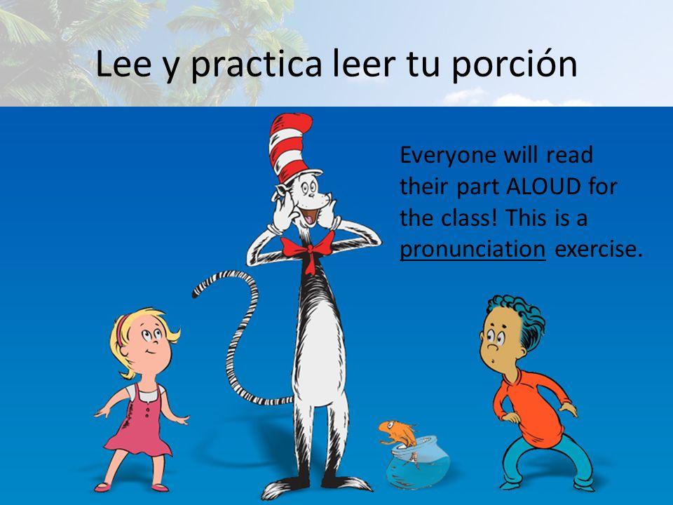 Lee y practica leer tu porción