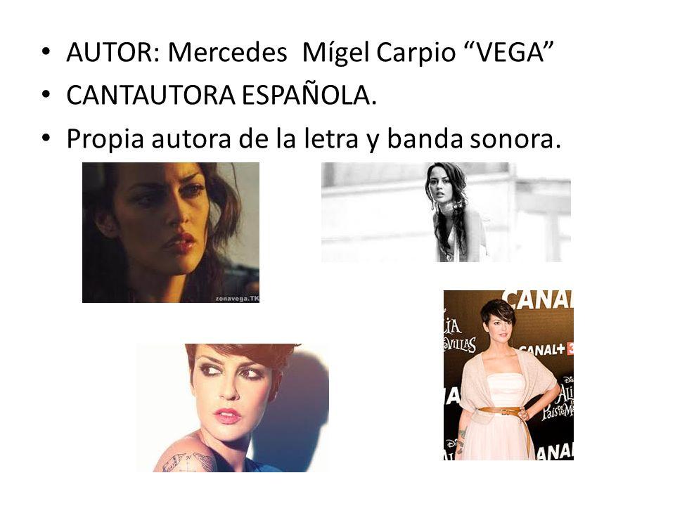 AUTOR: Mercedes Mígel Carpio VEGA