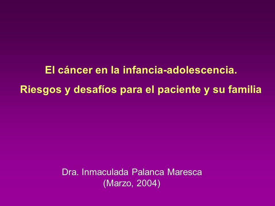 El cáncer en la infancia-adolescencia.