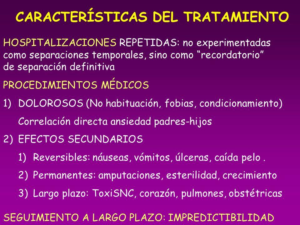 CARACTERÍSTICAS DEL TRATAMIENTO