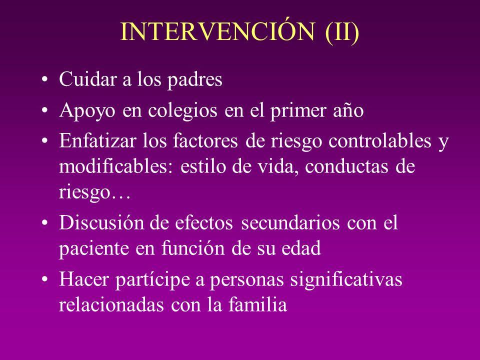 INTERVENCIÓN (II) Cuidar a los padres