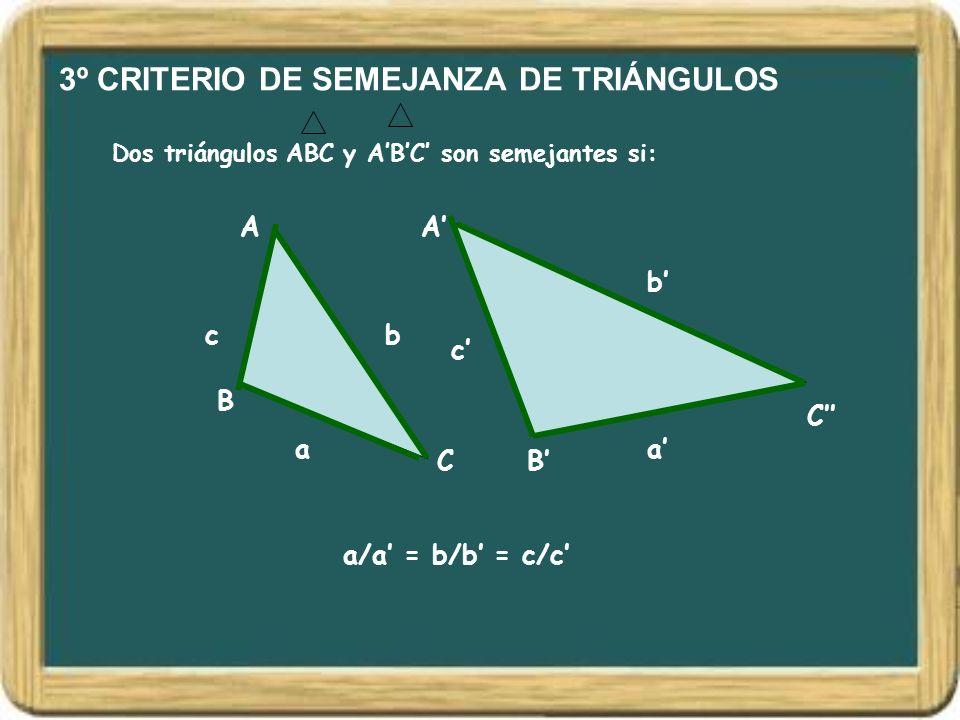 3º CRITERIO DE SEMEJANZA DE TRIÁNGULOS