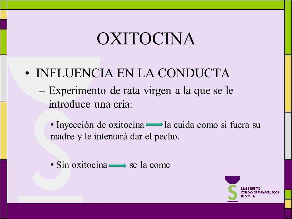 OXITOCINA INFLUENCIA EN LA CONDUCTA