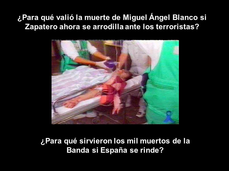 ¿Para qué valió la muerte de Miguel Ángel Blanco si