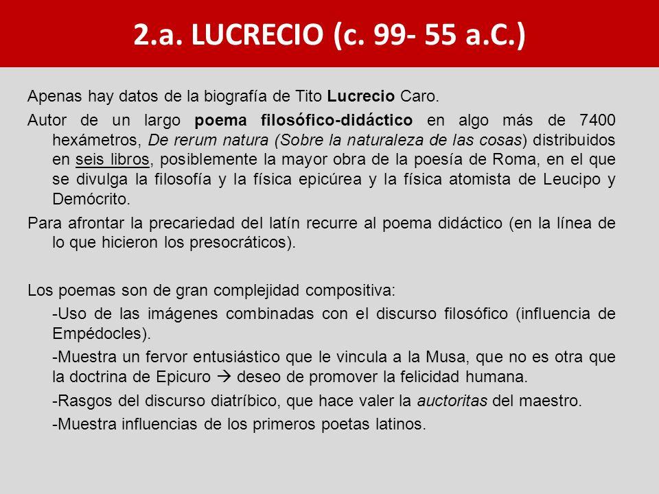 2.a. LUCRECIO (c. 99- 55 a.C.)
