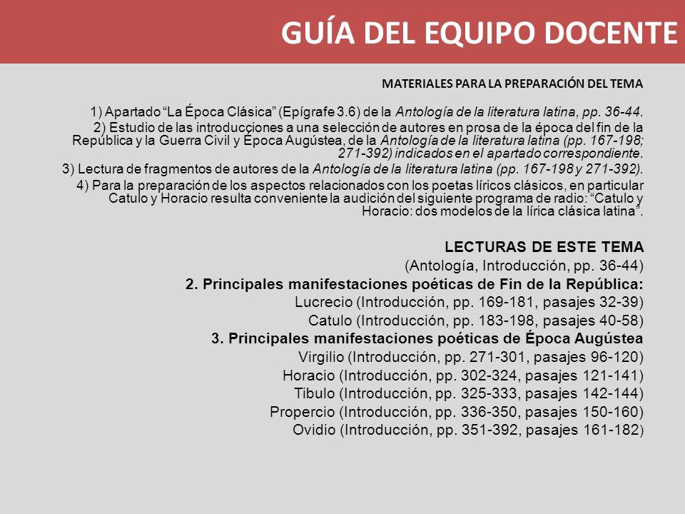 GUÍA DEL EQUIPO DOCENTE