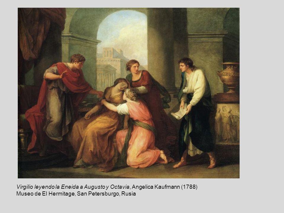 Virgilio leyendo la Eneida a Augusto y Octavia, Angelica Kaufmann (1788)