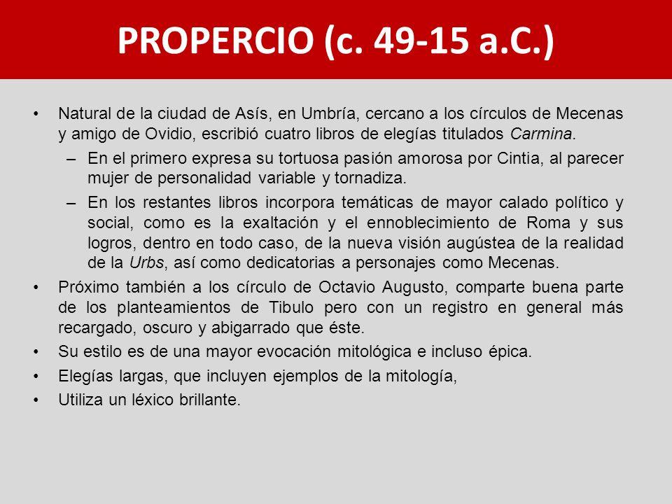 PROPERCIO (c. 49-15 a.C.)