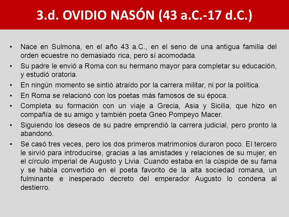 3.d. OVIDIO NASÓN (43 a.C.-17 d.C.)