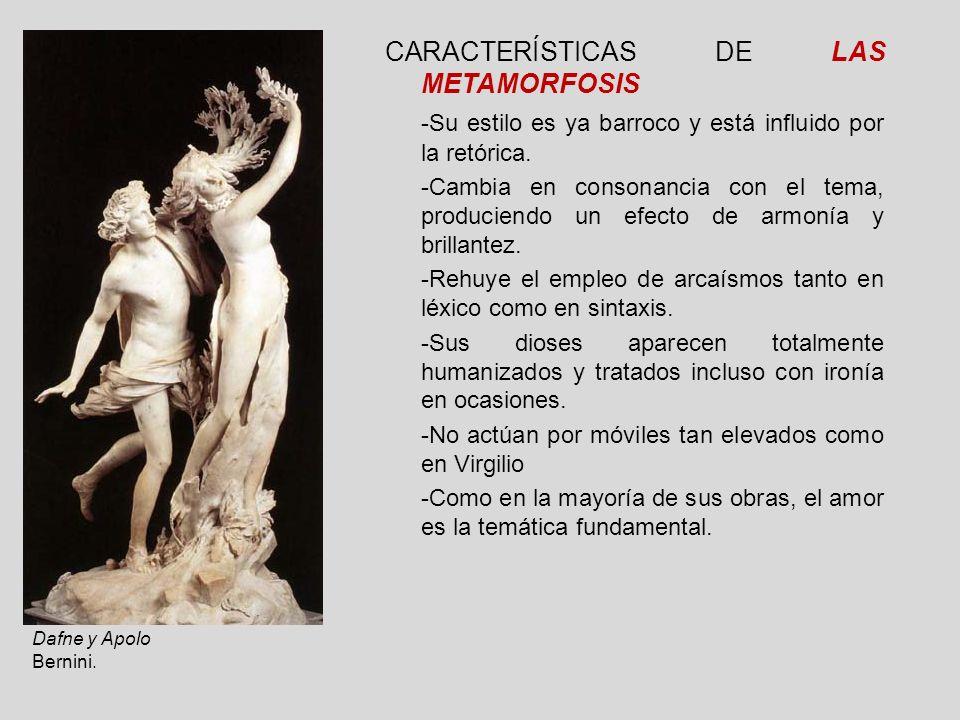CARACTERÍSTICAS DE LAS METAMORFOSIS