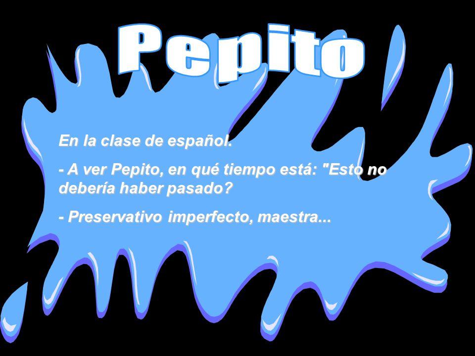 Pepito En la clase de español.