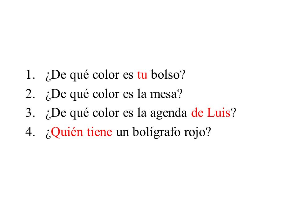 ¿De qué color es tu bolso