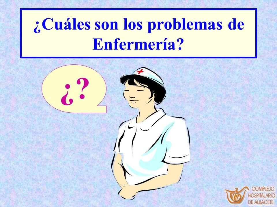 ¿Cuáles son los problemas de Enfermería