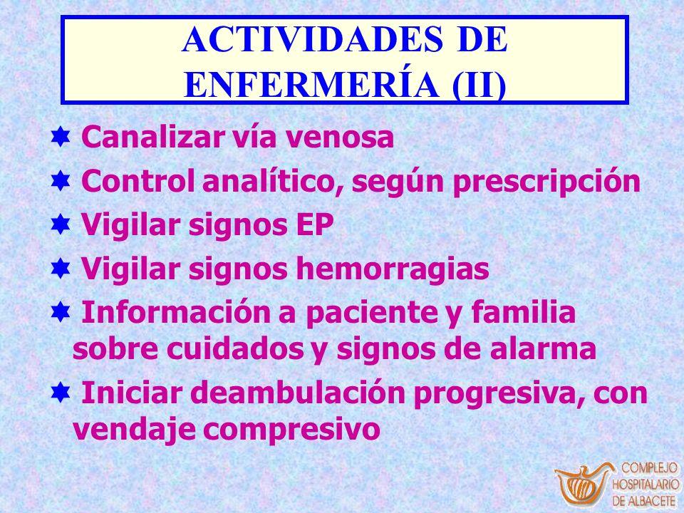 ACTIVIDADES DE ENFERMERÍA (II)