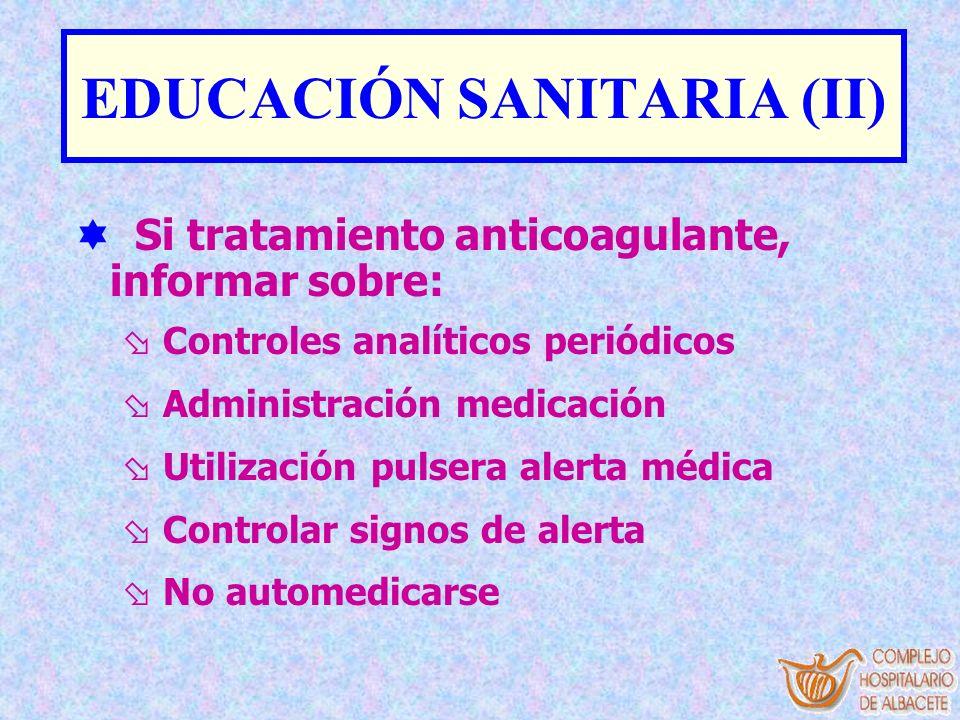 EDUCACIÓN SANITARIA (II)