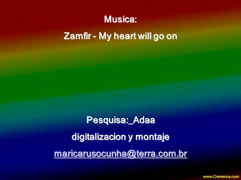 Zamfir - My heart will go on digitalizacion y montaje