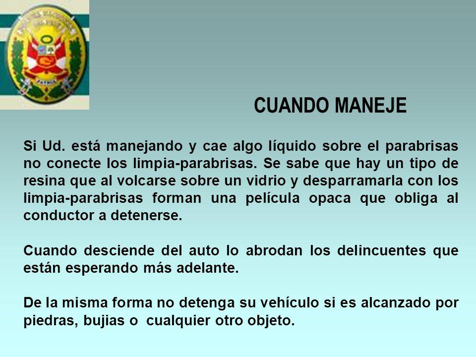 CUANDO MANEJE