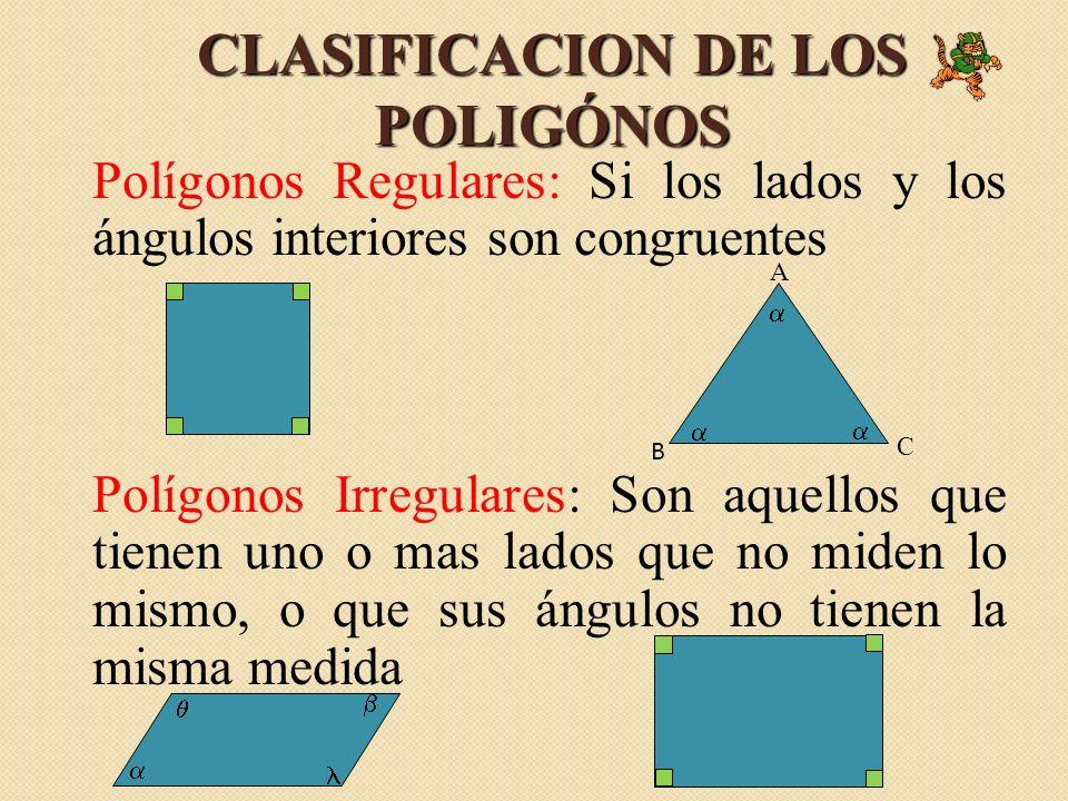 CLASIFICACION DE LOS POLIGÓNOS