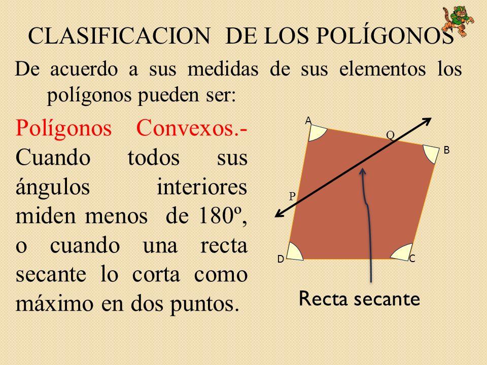 CLASIFICACION DE LOS POLÍGONOS