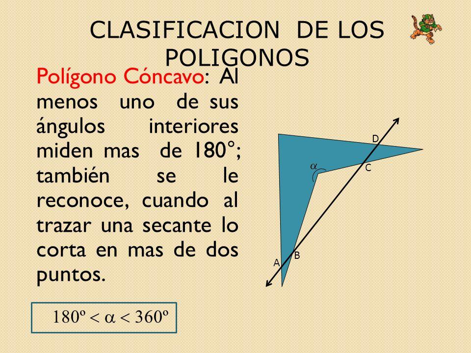 CLASIFICACION DE LOS POLIGONOS