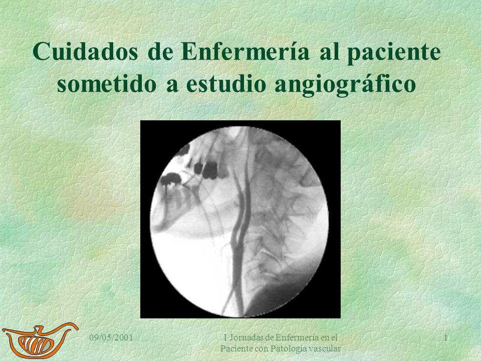 Cuidados de Enfermería al paciente sometido a estudio angiográfico