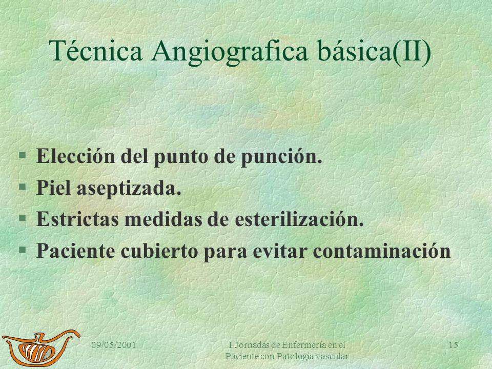 Técnica Angiografica básica(II)