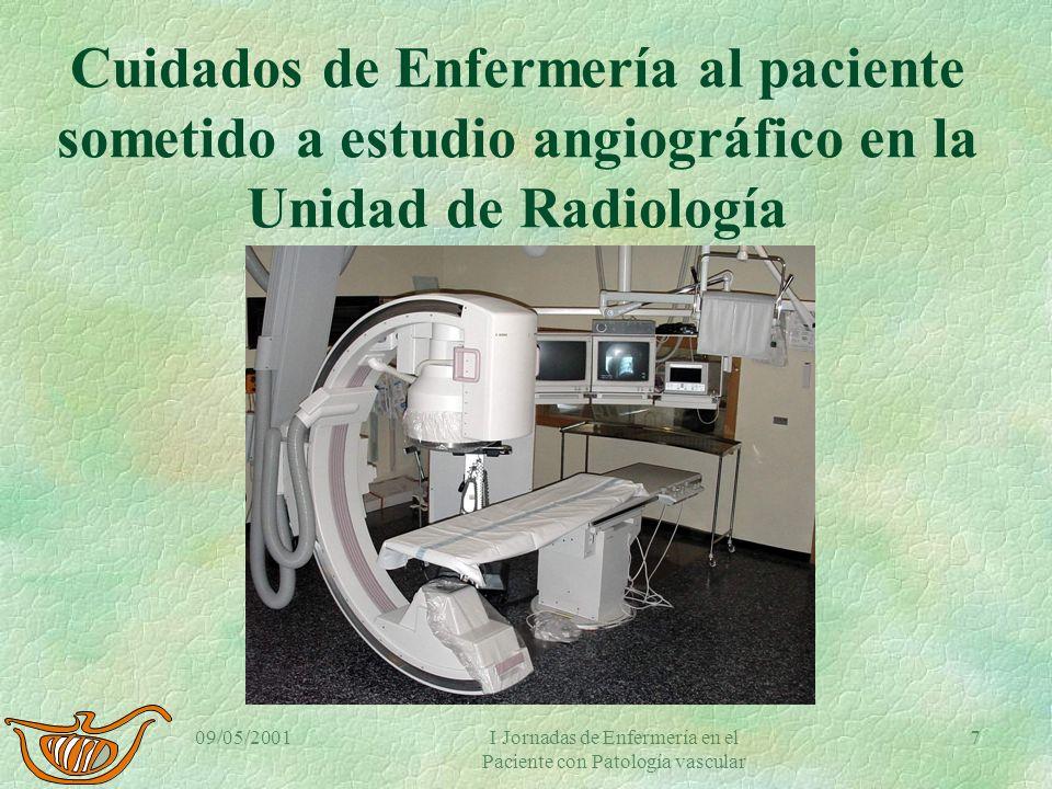 I Jornadas de Enfermería en el Paciente con patología vascular.