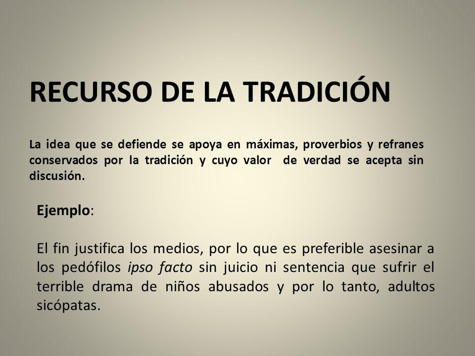 RECURSO DE LA TRADICIÓN