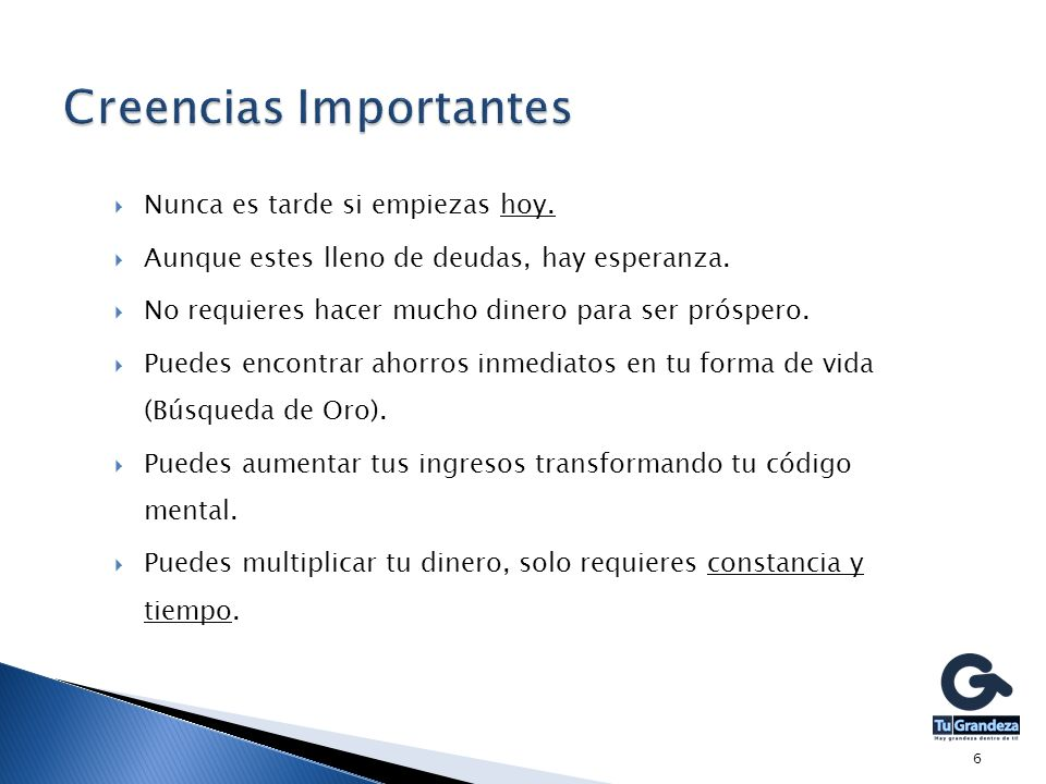 Creencias Importantes