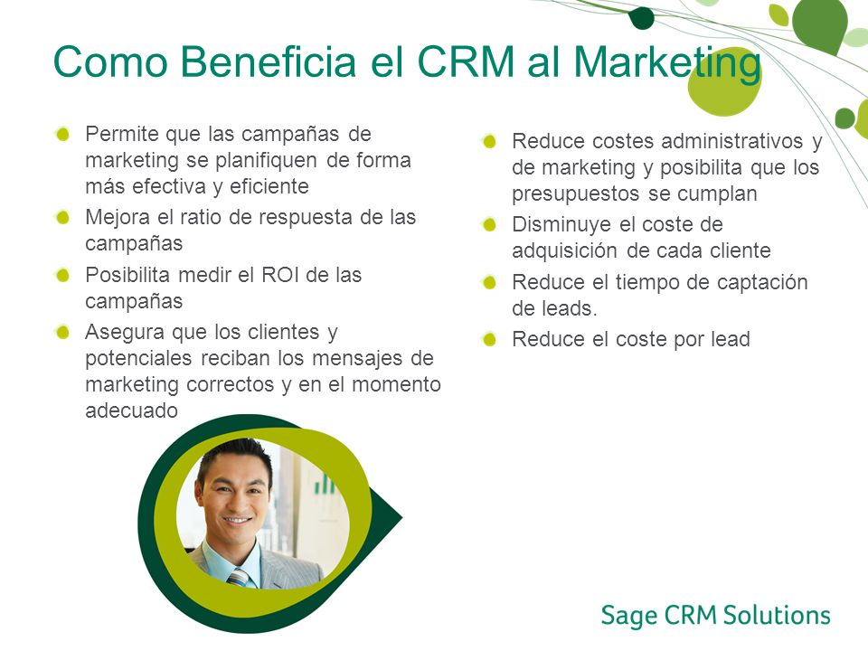 Como Beneficia el CRM al Marketing