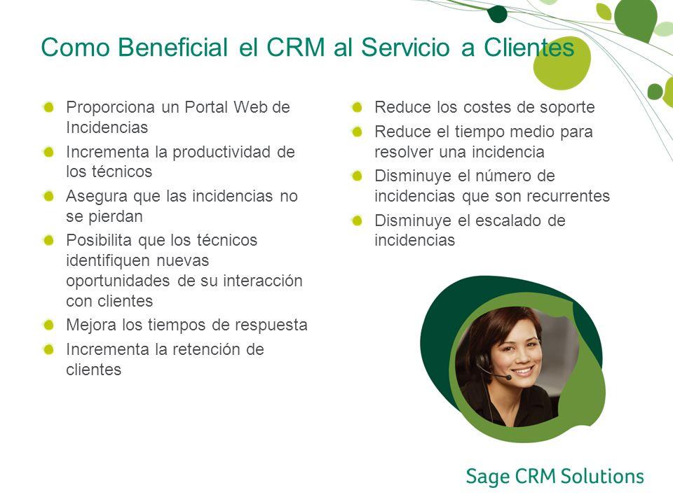 Como Beneficial el CRM al Servicio a Clientes