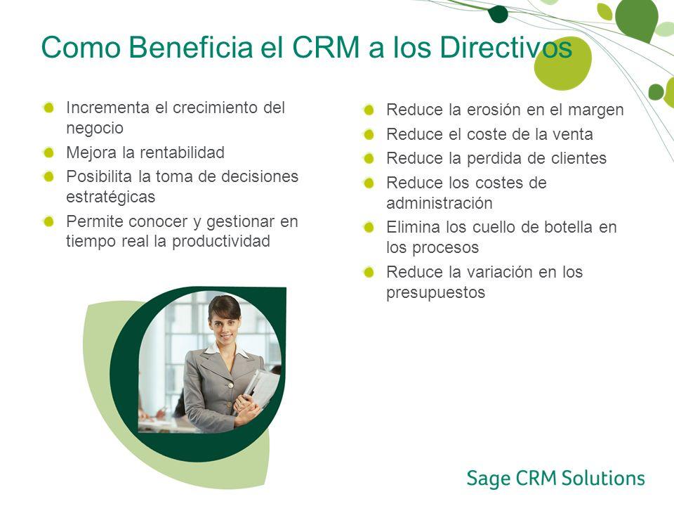 Como Beneficia el CRM a los Directivos