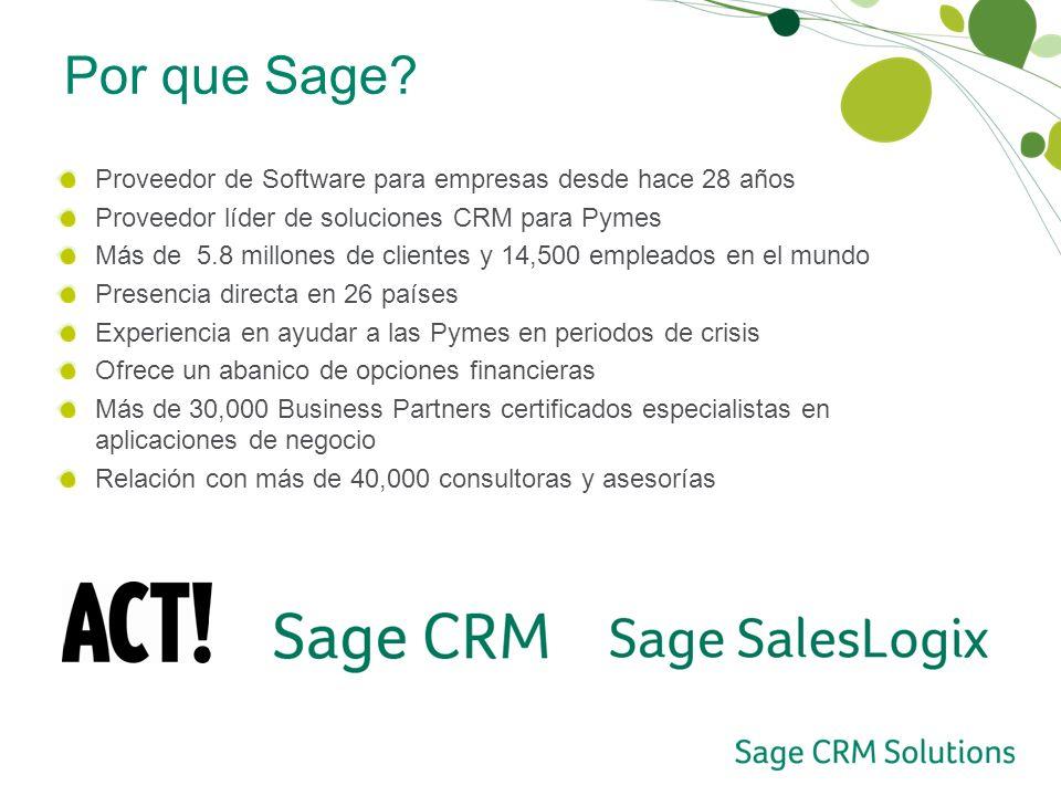 Por que Sage Proveedor de Software para empresas desde hace 28 años