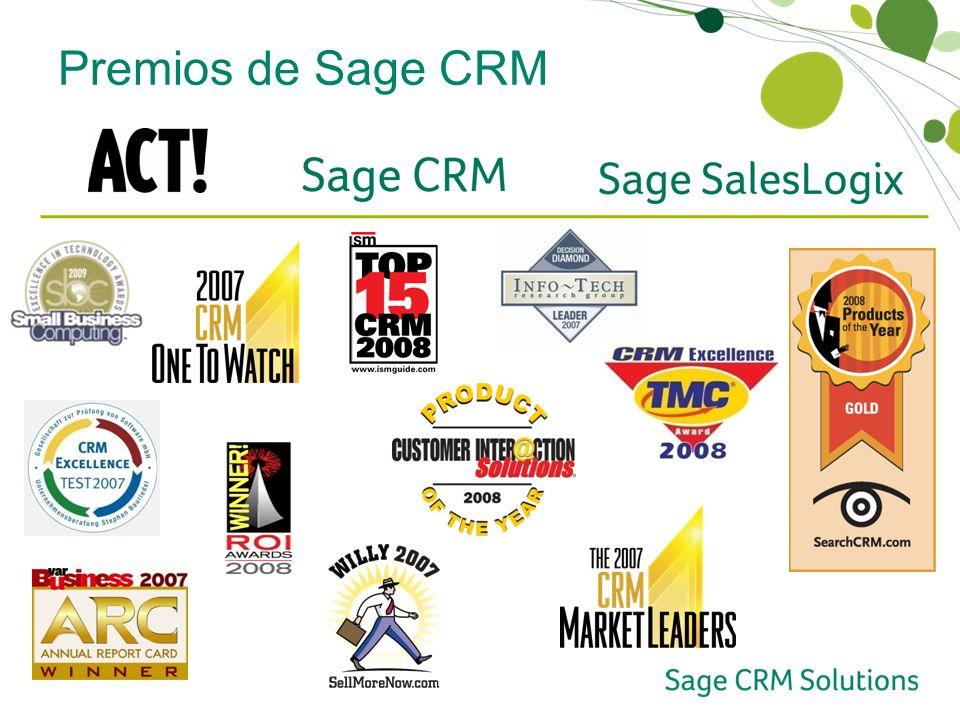 Premios de Sage CRM