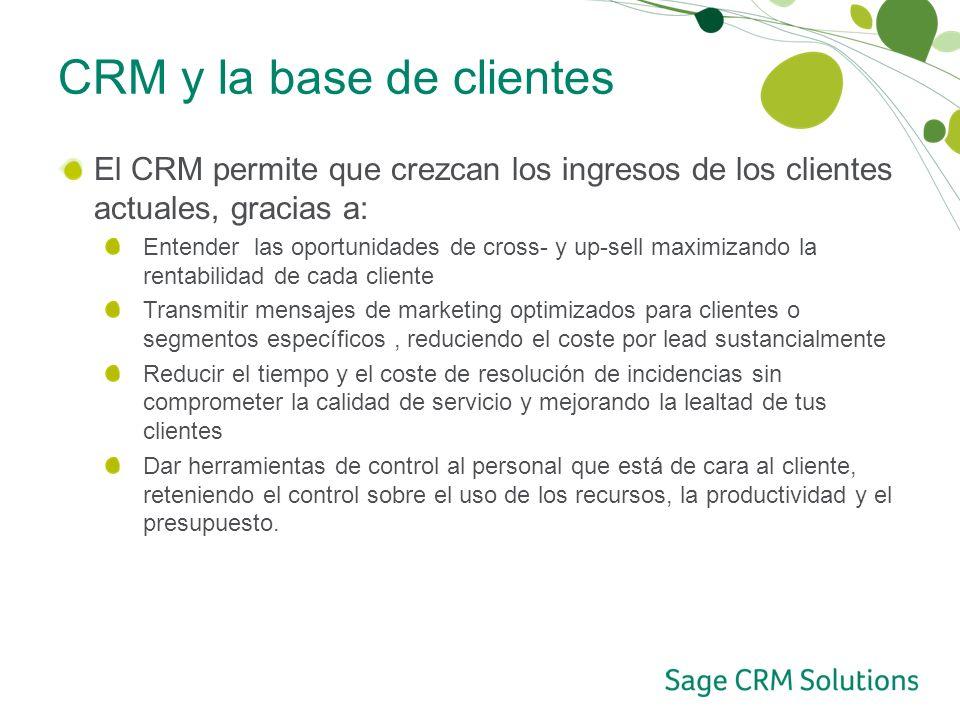 CRM y la base de clientes