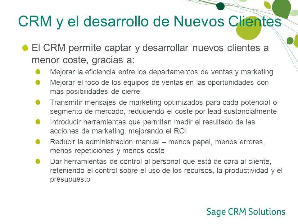 CRM y el desarrollo de Nuevos Clientes