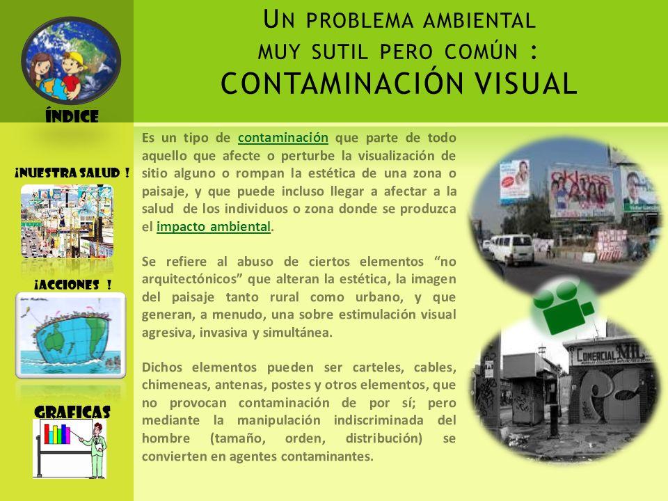Un problema ambiental muy sutil pero común : CONTAMINACIÓN VISUAL