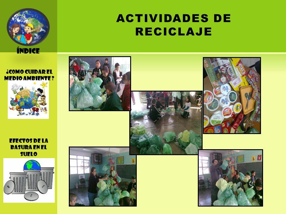 ACTIVIDADES DE RECICLAJE