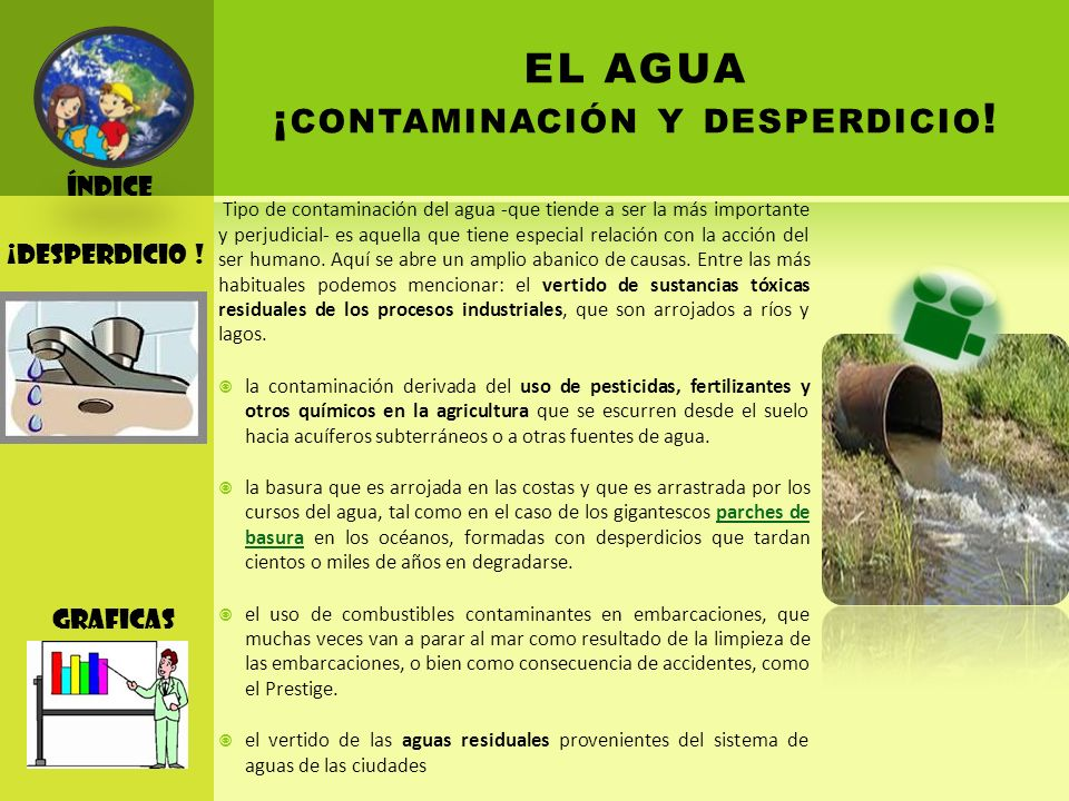 EL AGUA ¡contaminación y desperdicio!