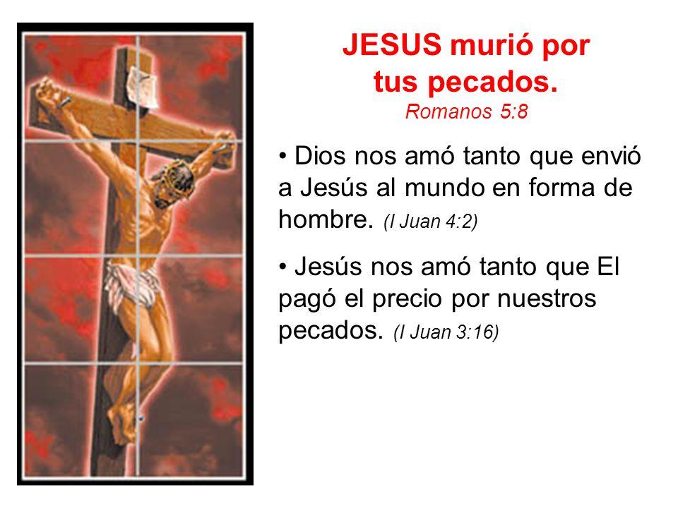 JESUS murió por tus pecados.