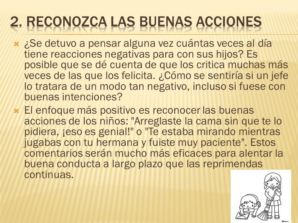 2. Reconozca las buenas acciones