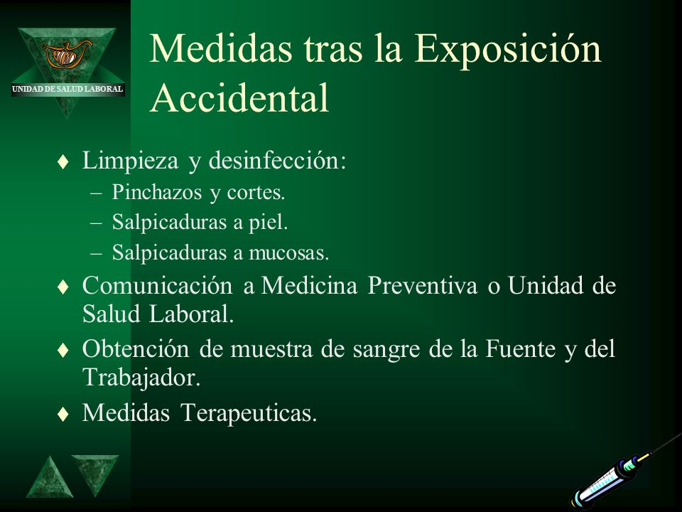 Medidas tras la Exposición Accidental
