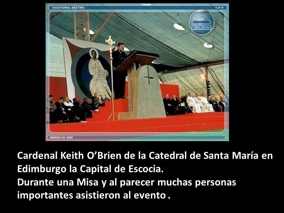 Cardenal Keith O'Brien de la Catedral de Santa María en