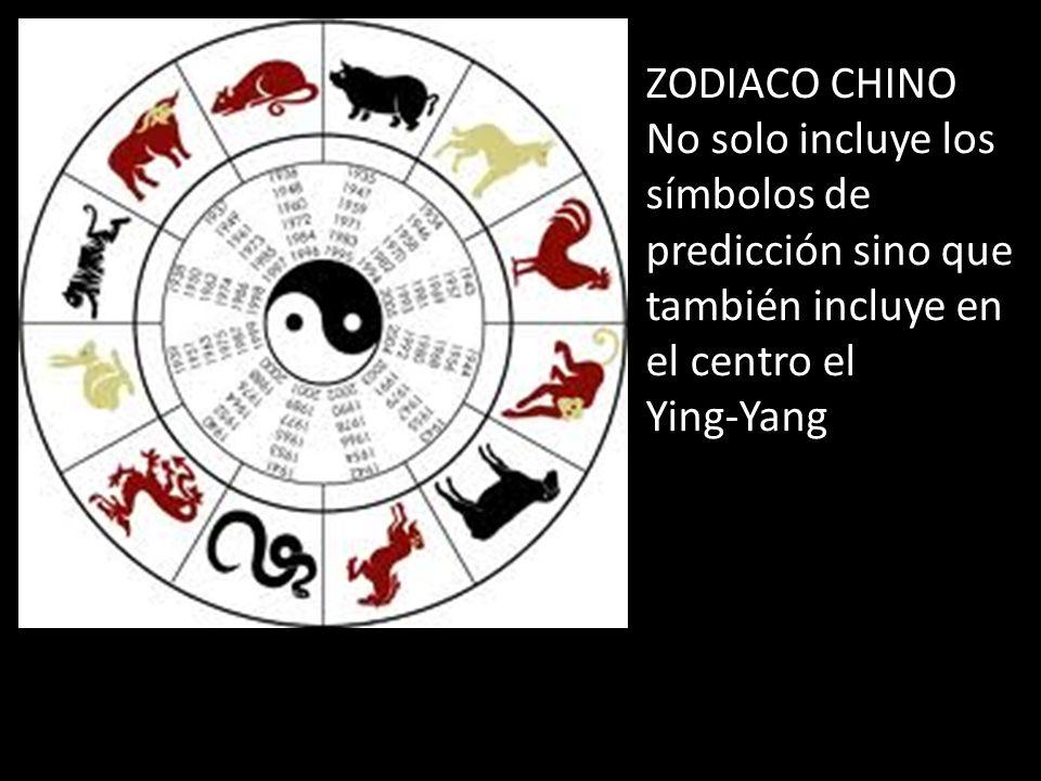 ZODIACO CHINO No solo incluye los símbolos de predicción sino que también incluye en el centro el.