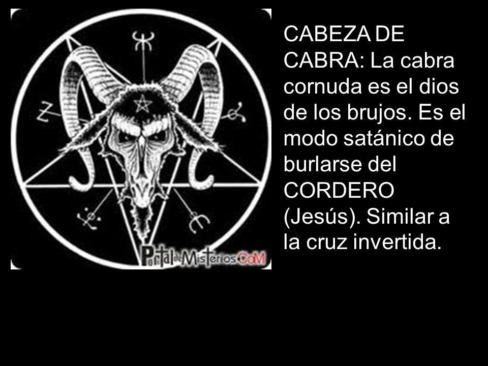 CABEZA DE CABRA: La cabra cornuda es el dios de los brujos